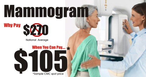 Reduced Mammogram Price for Cash Payments